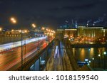 russia  moscow  night top view  ... | Shutterstock . vector #1018159540