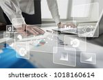 analytics and business... | Shutterstock . vector #1018160614