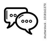 bubble chat communications icon ...