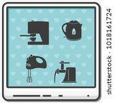 set of household appliances... | Shutterstock .eps vector #1018161724