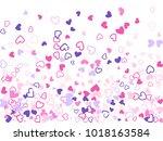 violet pink valentine's day...   Shutterstock .eps vector #1018163584
