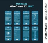 mobile wireframe app ui kit 47.