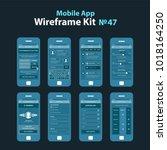 mobile wireframe app ui kit 47.