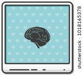 brain flat vector icon. | Shutterstock .eps vector #1018165378