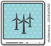 wind electricity generators...   Shutterstock .eps vector #1018165420