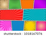 comic book colorful background... | Shutterstock .eps vector #1018167076