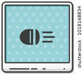 headlight flat vector icon. | Shutterstock .eps vector #1018168834