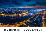 panorama of st. petersburg.... | Shutterstock . vector #1018170694