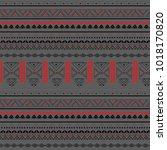 tribal seamless pattern  ... | Shutterstock .eps vector #1018170820