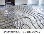 underfloor heating system in...   Shutterstock . vector #1018170919