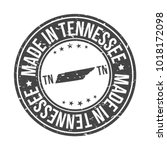 made in tennessee state usa... | Shutterstock .eps vector #1018172098