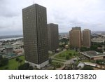 panoramic view from above of... | Shutterstock . vector #1018173820