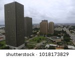 panoramic view from above of... | Shutterstock . vector #1018173829