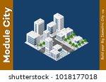 isometric 3d landscape top view ... | Shutterstock .eps vector #1018177018