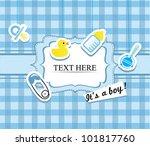 baby boy shower card | Shutterstock .eps vector #101817760