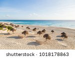 beautiful beach on the... | Shutterstock . vector #1018178863