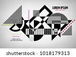 abstract geometric modern... | Shutterstock .eps vector #1018179313