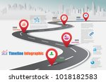business road map timeline... | Shutterstock .eps vector #1018182583