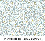 herbal seamless pattern. many... | Shutterstock .eps vector #1018189084