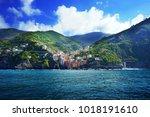 villages on coast of la spezia... | Shutterstock . vector #1018191610