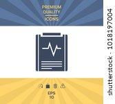 electrocardiogram symbol icon....   Shutterstock .eps vector #1018197004