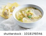 Chinese wonton dumpling in clear soup