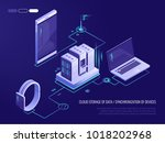 concept of data network... | Shutterstock .eps vector #1018202968