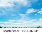 blue sky with cloud | Shutterstock . vector #1018207834