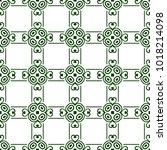 vintage ornamental seamless... | Shutterstock .eps vector #1018214098