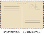 vintage postcard. old template. ... | Shutterstock .eps vector #1018218913