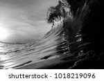 A Black And White Breaking Wave ...