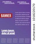 banner  brochure  flyer and... | Shutterstock .eps vector #1018220170