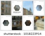a4 brochure cover design with... | Shutterstock .eps vector #1018223914