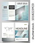business templates for bi fold... | Shutterstock .eps vector #1018223923