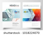 business templates for brochure ... | Shutterstock .eps vector #1018224070