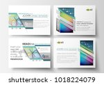 set of business templates for... | Shutterstock .eps vector #1018224079