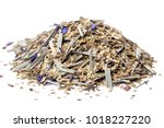 Small photo of Paraguayan mate tea with addition of flowers monarda on a white background