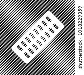 medical pills sign. vector.... | Shutterstock .eps vector #1018229359