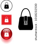 purse symbol sign and button | Shutterstock .eps vector #1018232530