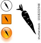 carrot symbol sign and button | Shutterstock .eps vector #1018232548