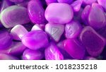 colorful purple rock | Shutterstock . vector #1018235218