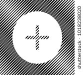 positive symbol plus sign.... | Shutterstock .eps vector #1018238020