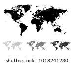 world map vector illustration... | Shutterstock .eps vector #1018241230