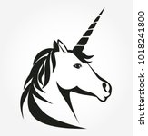 Unicorn Head Icon Vector....