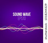 sound wave vector abstract... | Shutterstock .eps vector #1018244329