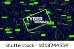 cyber monday sale banner.... | Shutterstock .eps vector #1018244554