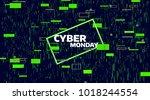 cyber monday sale banner.... | Shutterstock .eps vector #1018244554