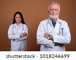 studio shot of senior man...   Shutterstock . vector #1018246699