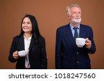 studio shot of senior...   Shutterstock . vector #1018247560