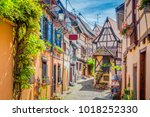 beautiful view of charming... | Shutterstock . vector #1018252330